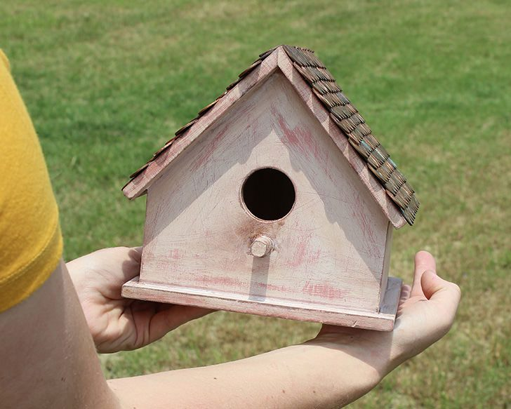 DIY Birdhouse with a Pretty Penny Roof - Dream a Little Bigger