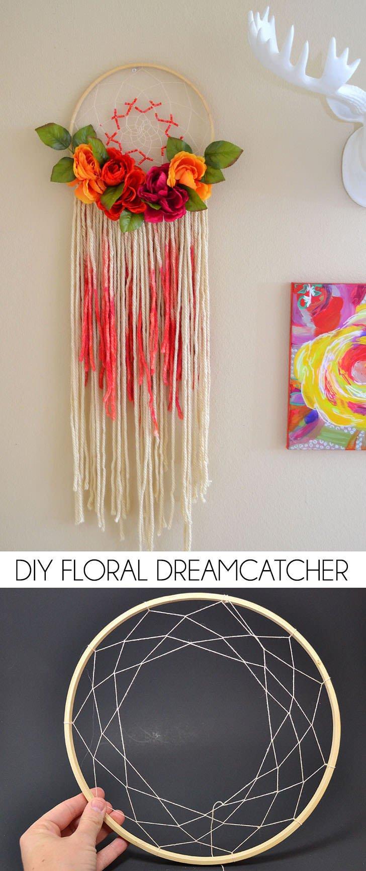 Bohemian Floral Dreamcatcher - Dream a Little Bigger May Flowers Tumblr