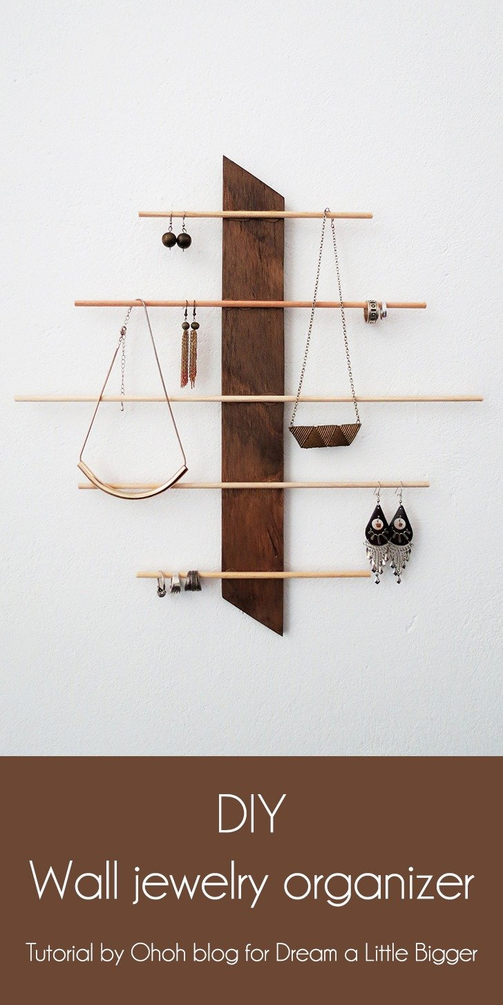 diy wall jewelery holder 1