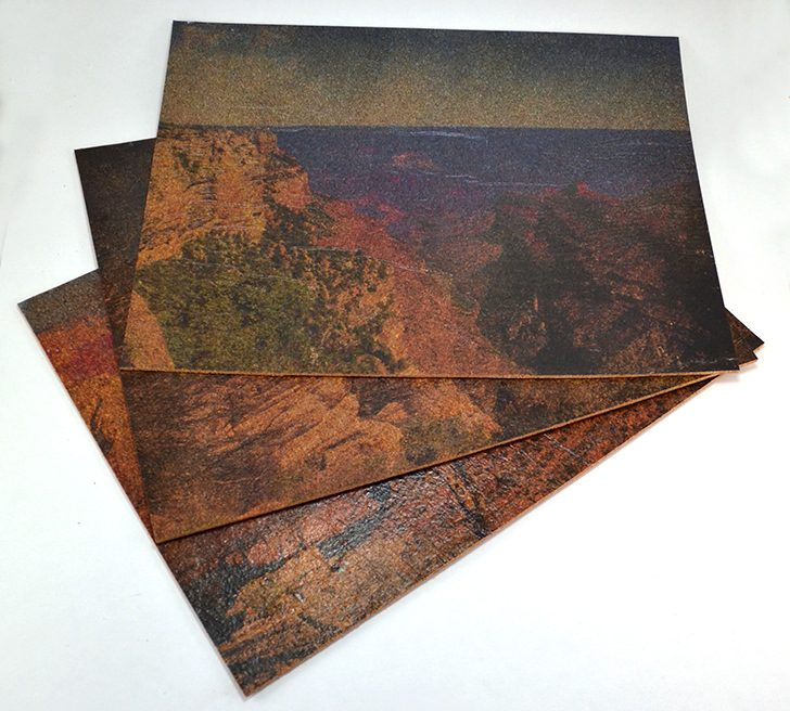 Photo Transfer On Cork Grand Canyon Placemats Dream A