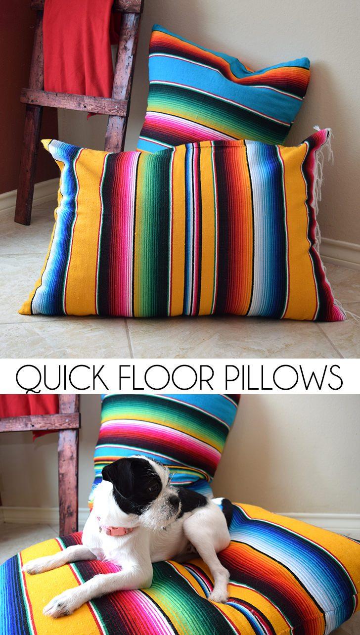 Quick Floor Pillows Tutorial