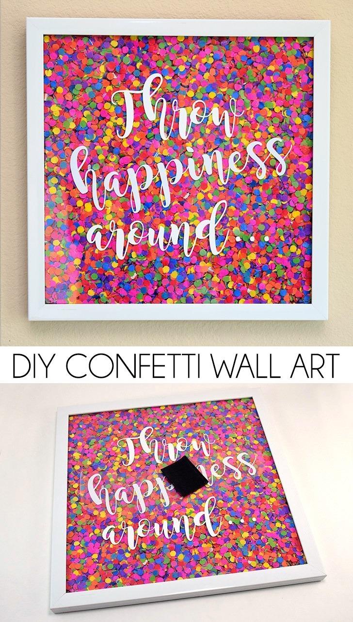 DIY Confetti Wall Art