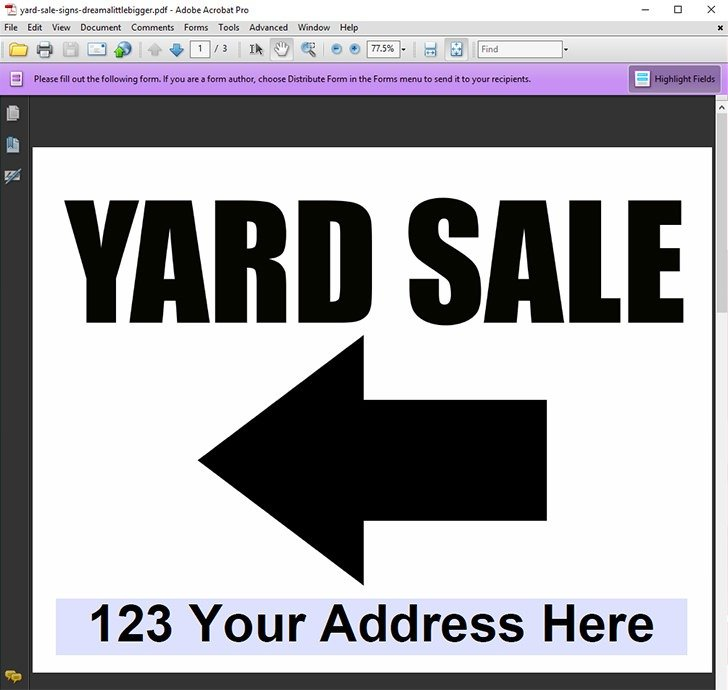 Type in your address and permit number if applicable for some amazingly visible garage sale signs with this editable yard sale sign freebie!