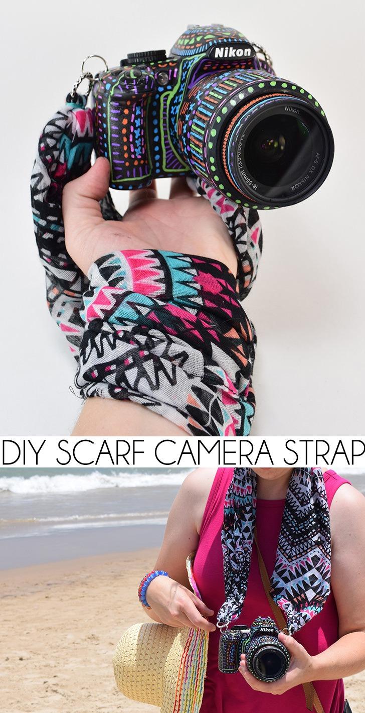 DIY Scarf Camera Strap - Dream a Little Bigger