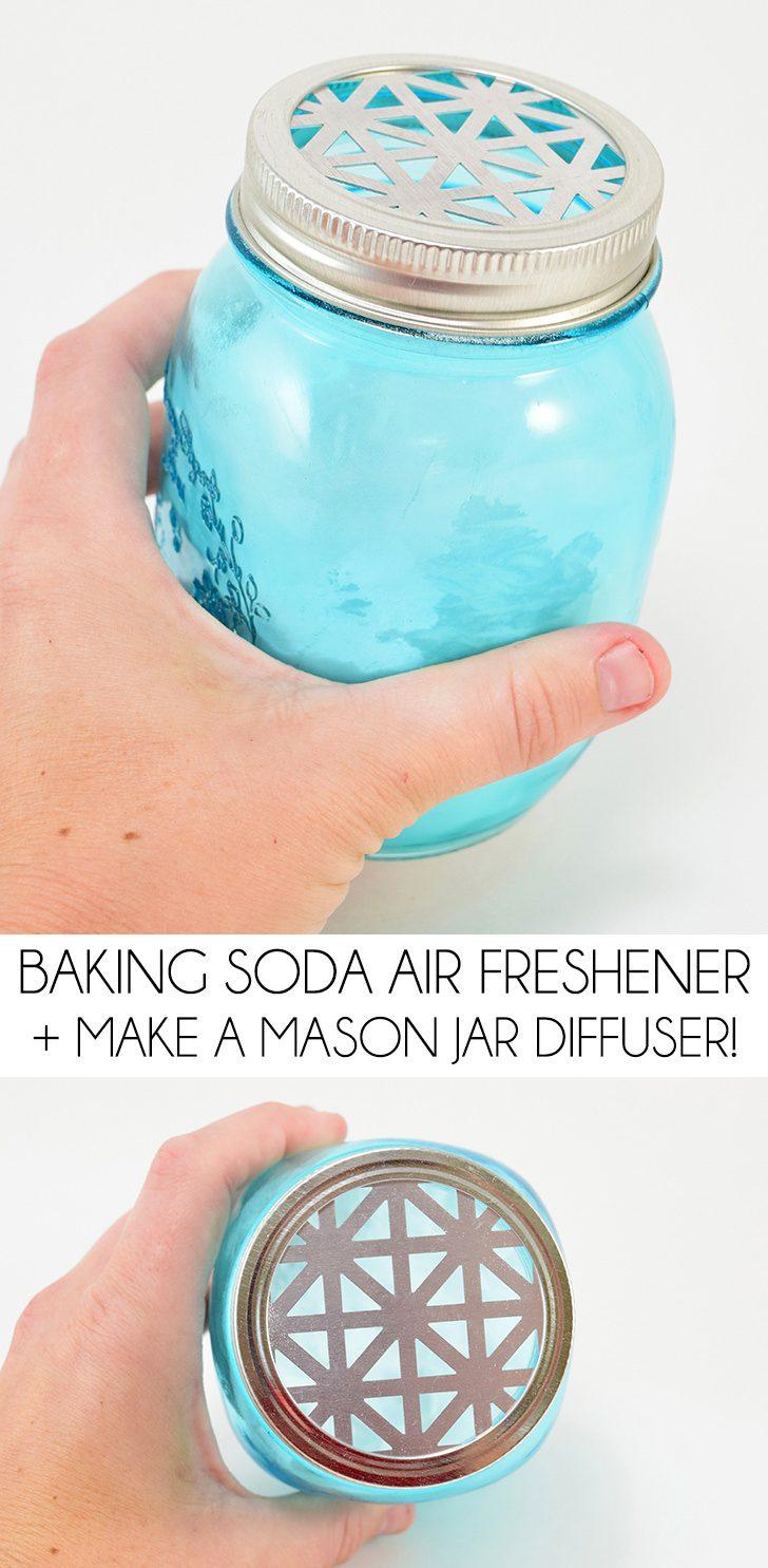 Baking Soda Air Freshener + DIY Mason Jar Diffuser