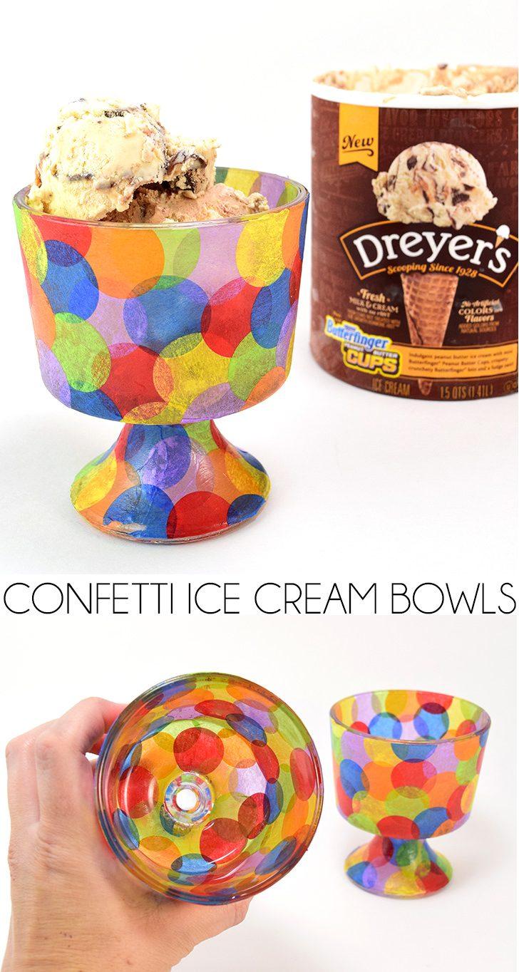 Confetti Ice Cream Bowls