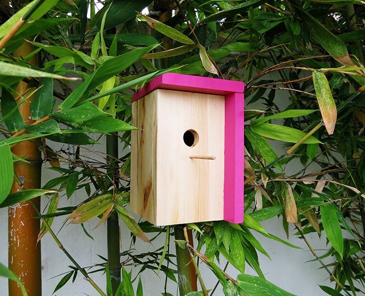diy modern bird house 10