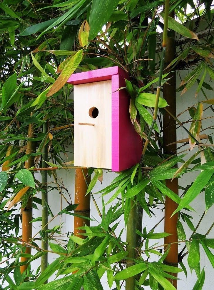 diy modern bird house 9