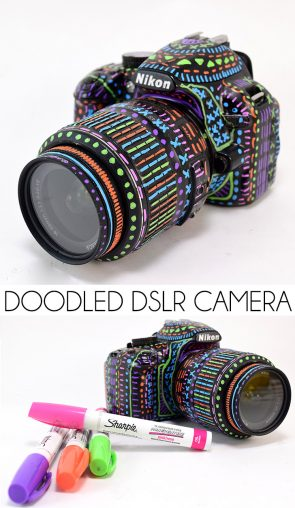 I am in LOVE with this Sharpie doodled DSLR camera!