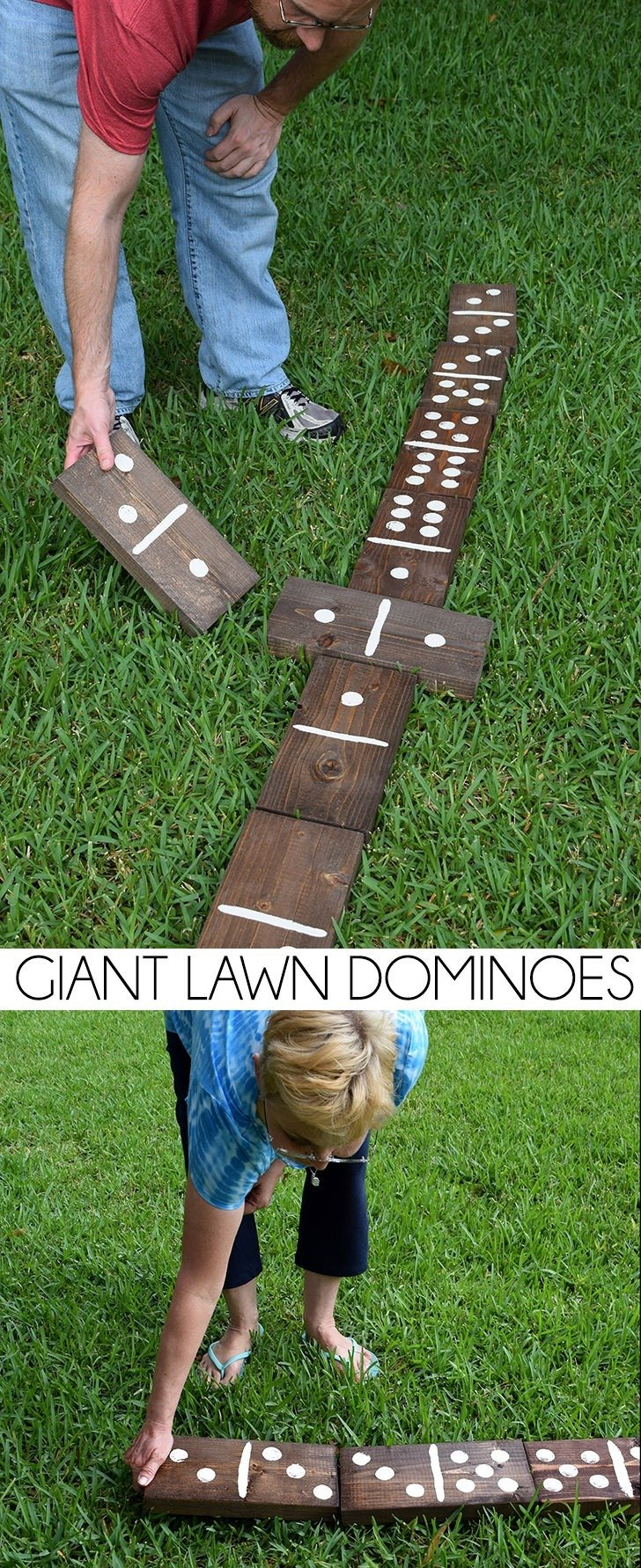 Giant Lawn Dominoes Dream A Little Bigger