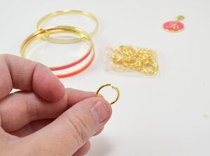 This is a really easy little project to personalize a bangle bracelet set. What a cute and simple DIY gift to give!
