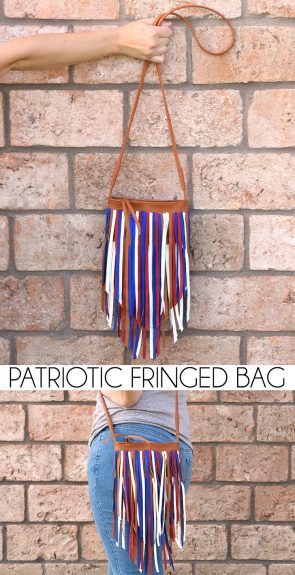 Turn a $6 purse into a patriotic fringed dream!