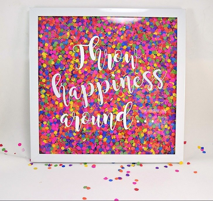 DIY Confetti Wall Art - Dream a Little Bigger