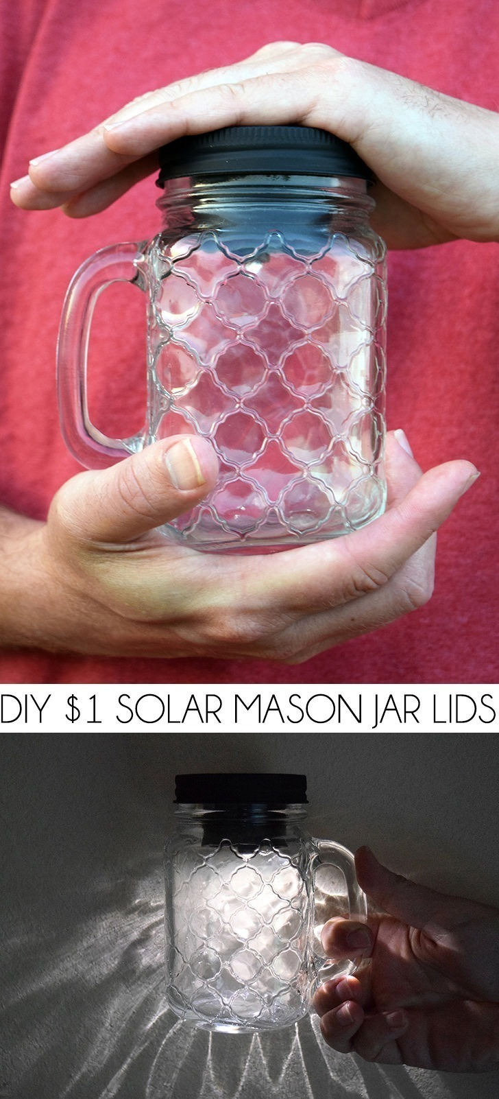Solar Mason Jar Lids