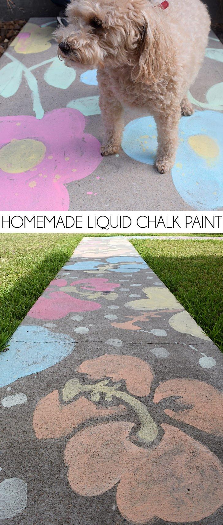 Homemade Liquid Chalk Paint