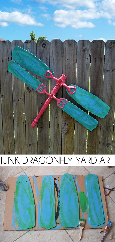 Junk Dragonfly Yard Art