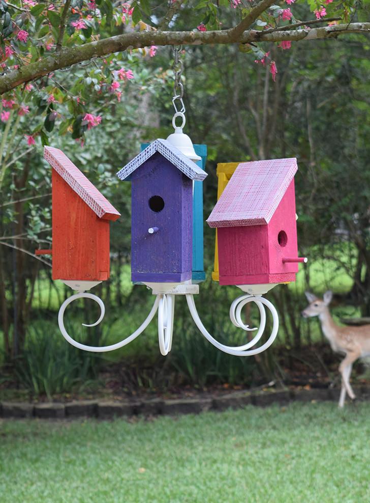 Birdhouse Chandelier Tutorial