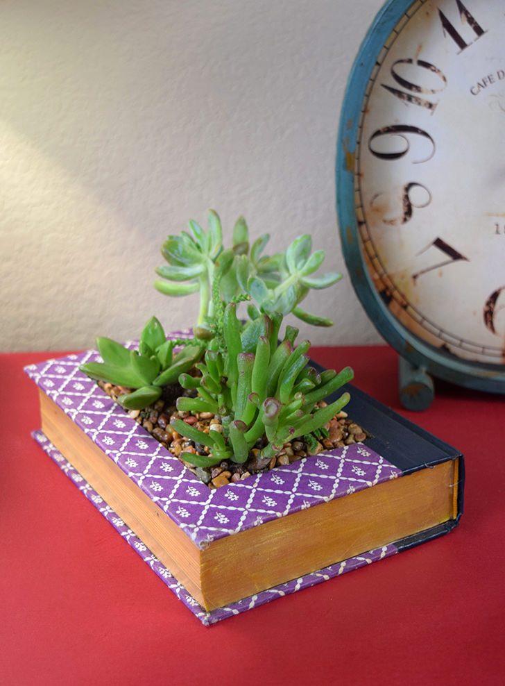 Book Succulent Planter