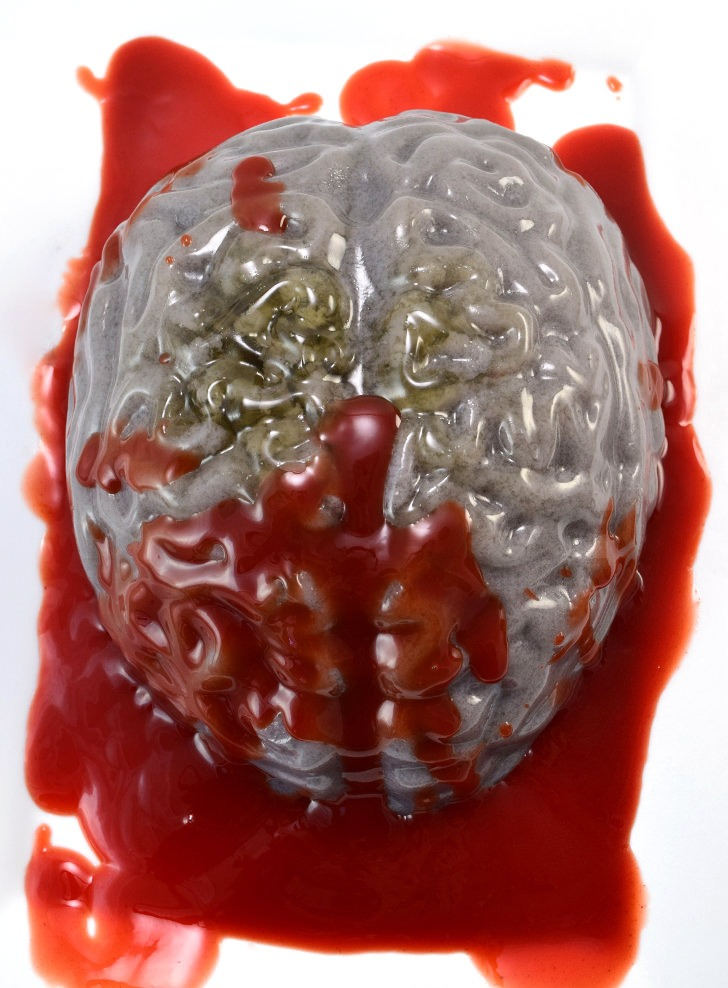 Bloody Brain Jello Halloween Treat
