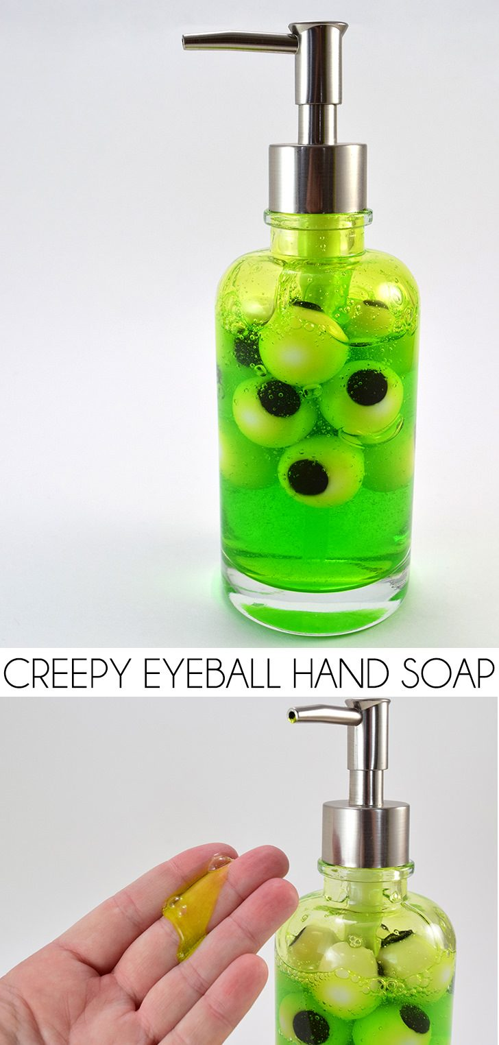 This creepy eyeball hand soap is simple to make and sure to make the littles want to wash their hands. Perfect for Halloween!