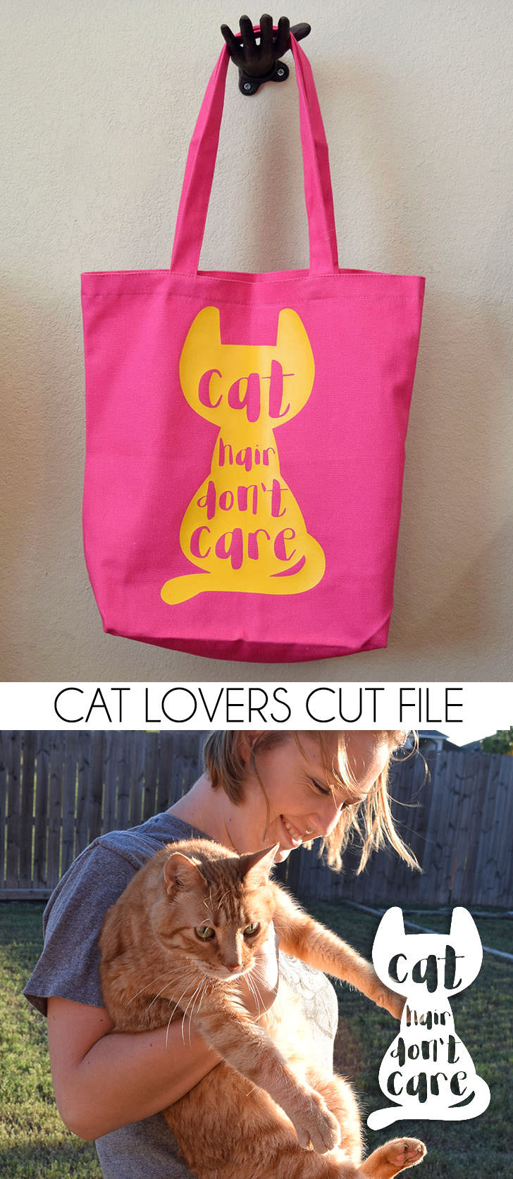 The perfect gift for a cat lover - cat hair don't care! SO cute!
