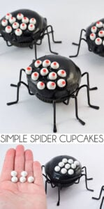 I can hardly believe how simple these spider cupcakes are to make. What a darling Halloween treat!