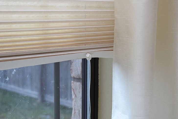 diy corded paper blinds cheap window covering dream a little bigger. Black Bedroom Furniture Sets. Home Design Ideas