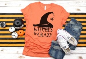 Get the witches be crazy free cut file to make your own Halloween shirts. This is so cute!