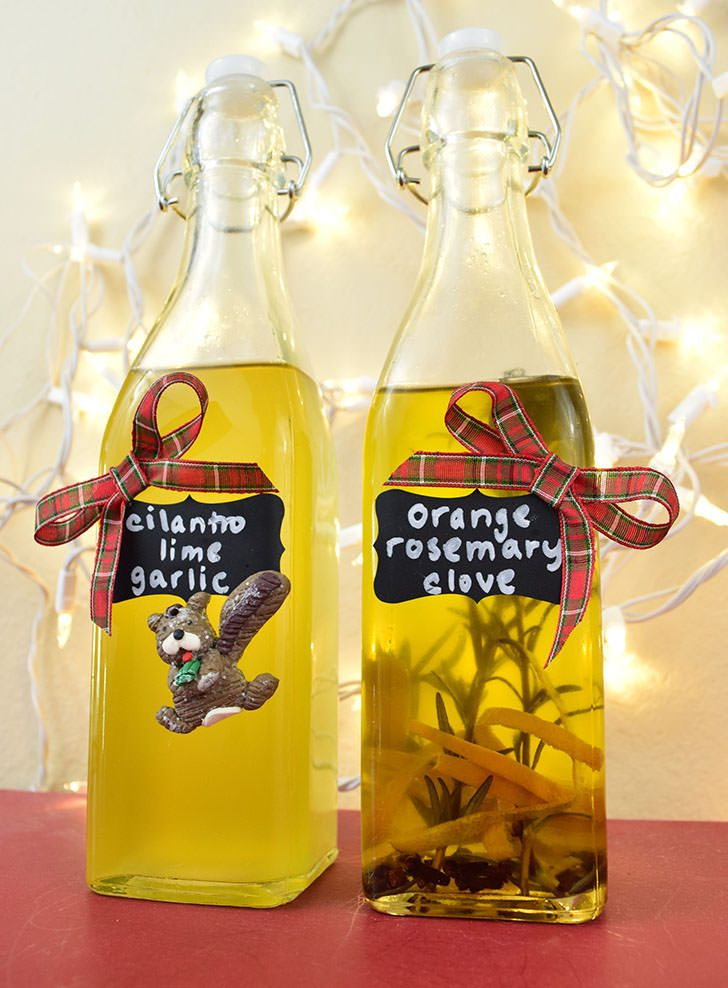 Homemade Flavored Oils for Gifting