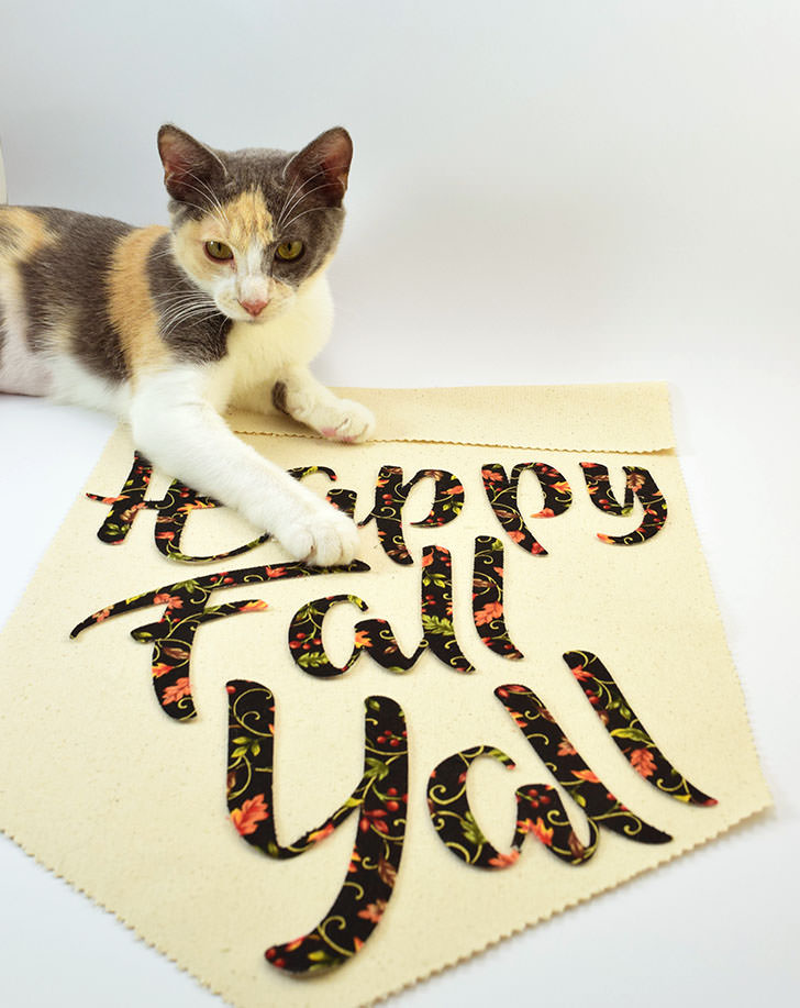 Happy Fall Y'all Banner Tutorial