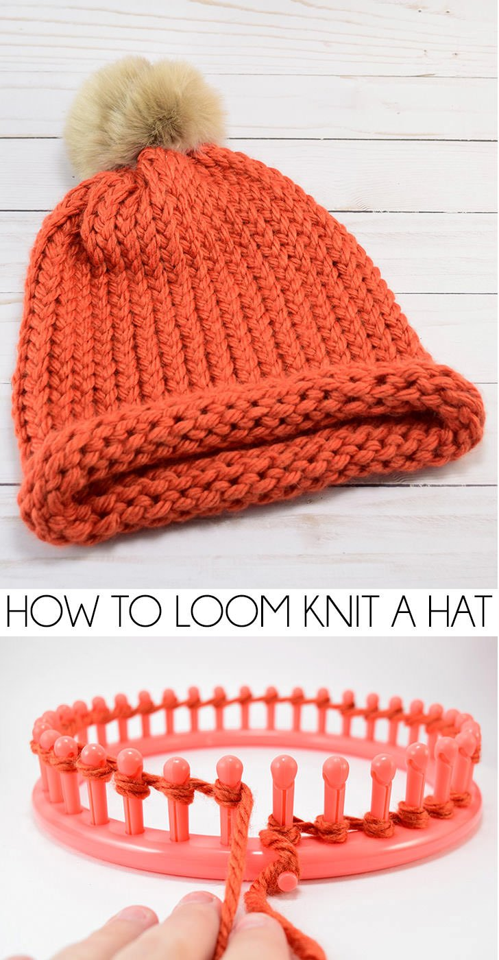 2b159e65a35 Did you know how easy it is to loom knit a hat  It looks properly