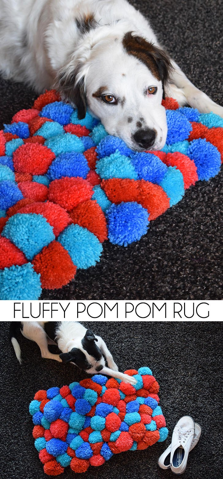 Turn yarn into a fluffy pom pom rug. It's easy and super affordable and oh, so FLUFFY!