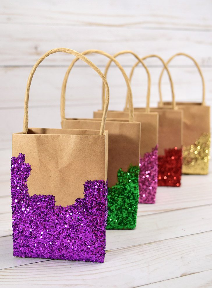 Glitter Dipped Gift Bags