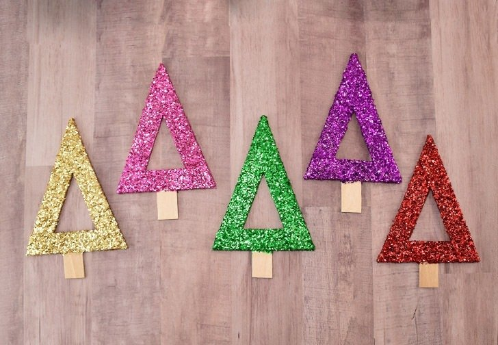 Modern Popsicle Stick Christmas Tree Ornaments - Dream a Little Bigger