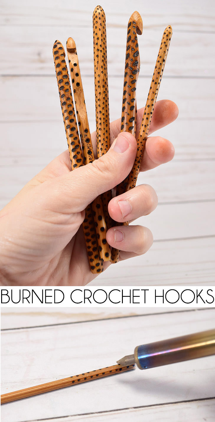 Give a heartfelt and handmade gift to your favorite hookers... these wood burned crochet hooks are easy, unique and really pretty!