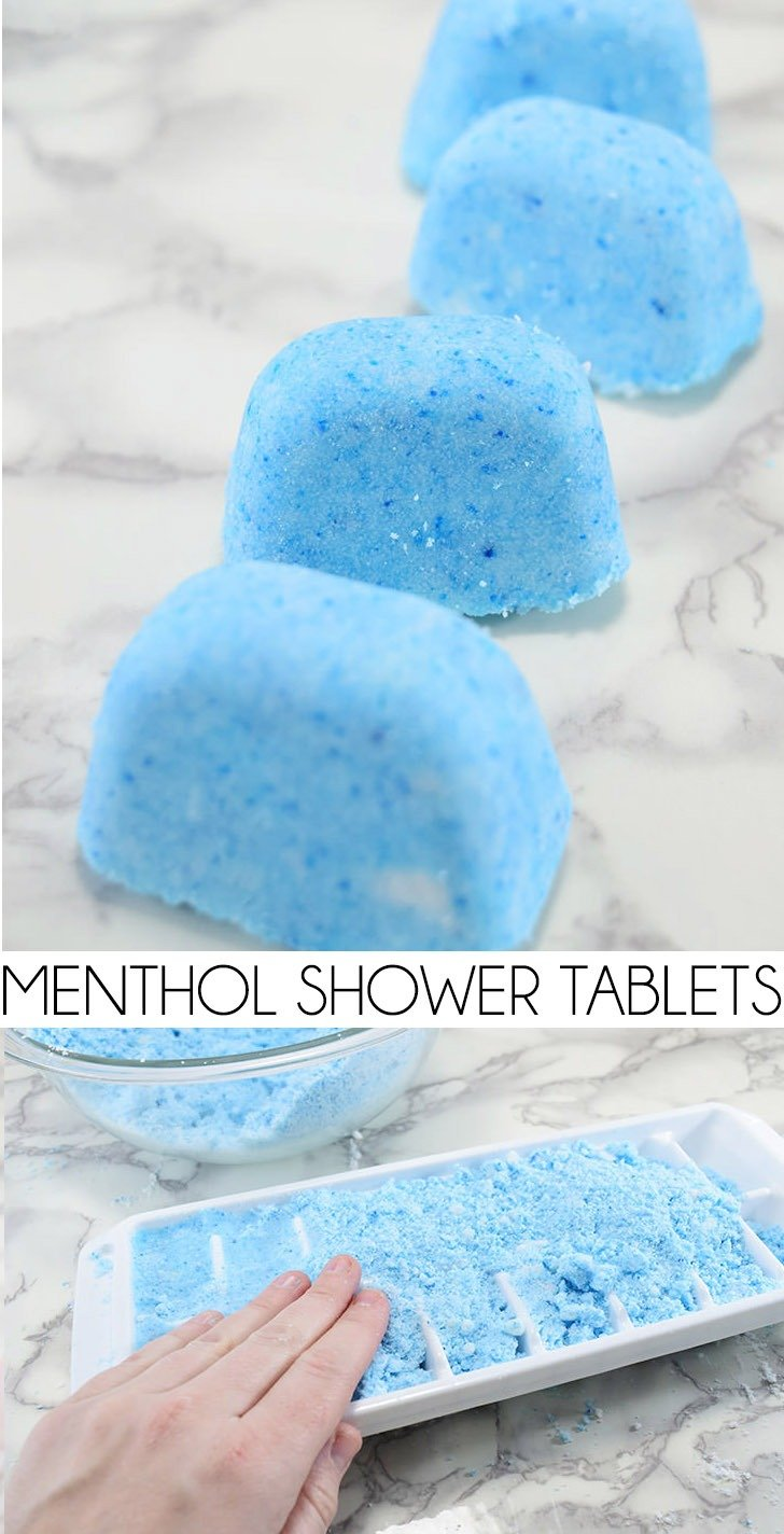Stuffy head or congestion? After my go to store brand didn't seem to be cutting it, I made my own, more powerful menthol shower tablets.