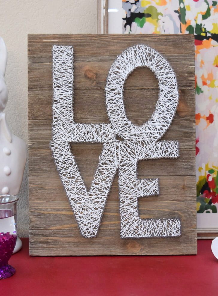 Marquee String Art Love