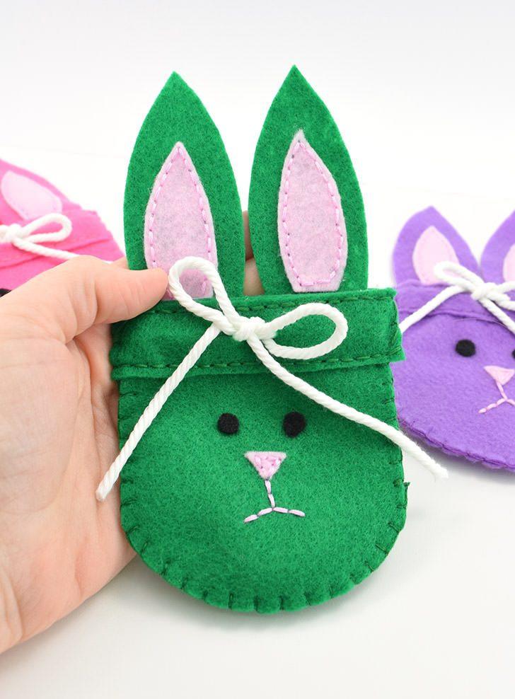 Felt Bunny Bags – Free Pattern