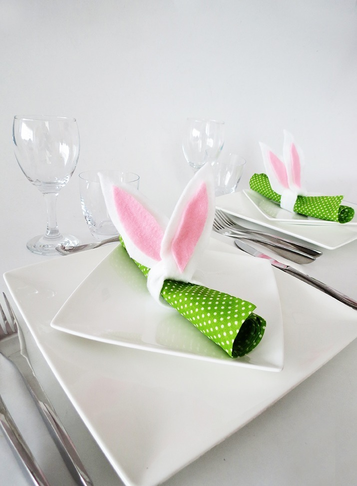 How to make bunny ears napkin rings