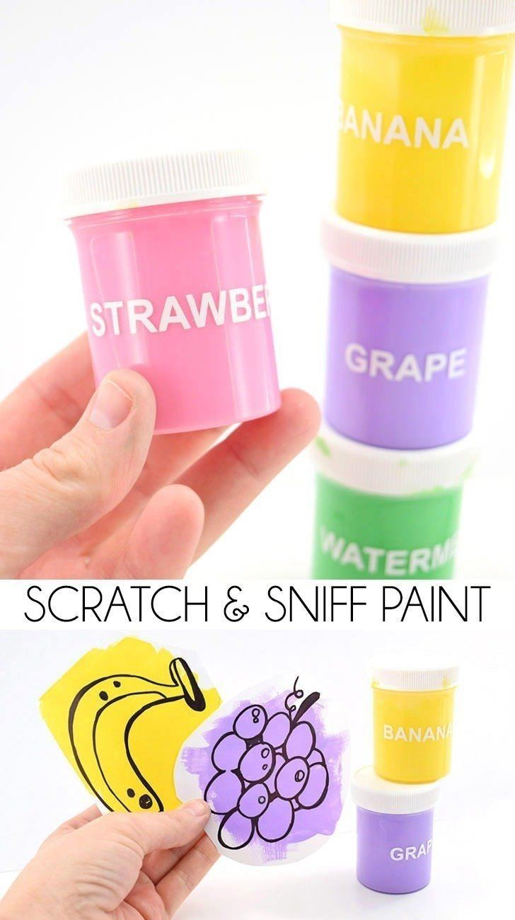I never thought to make DIY scratch and sniff paint but now I really want to with the kiddos! How neat!