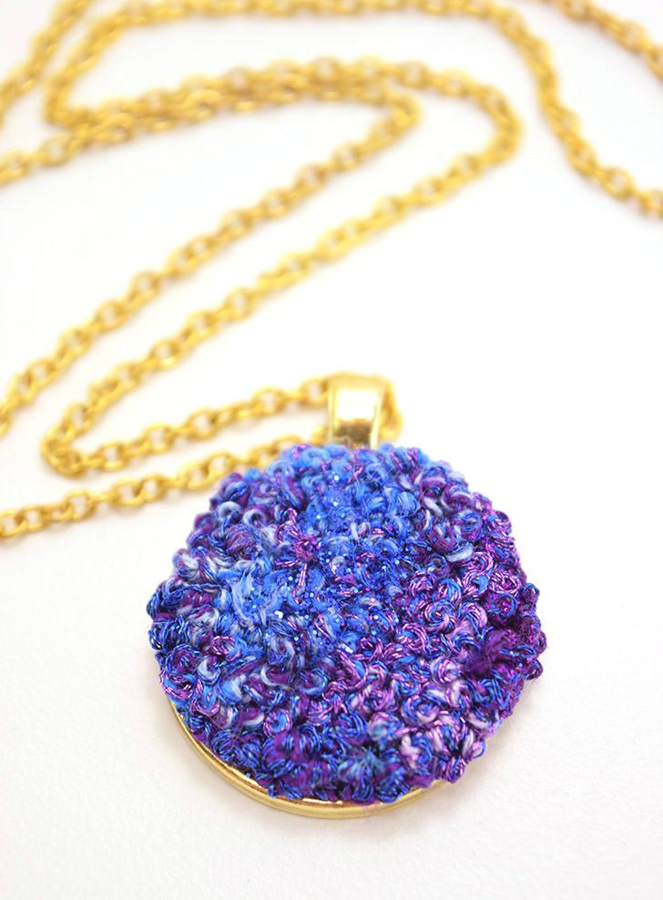 Embroidered Faux Druzy with French Knots