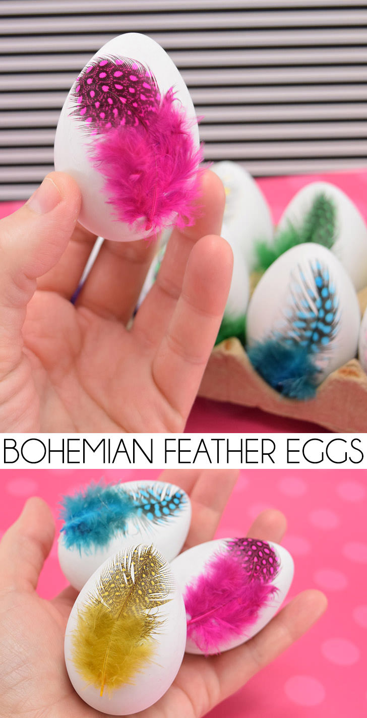 So cute! So simple! So boho! These feather Easter eggs are fun and the perfect complement to a Bohemian Easter celebration!