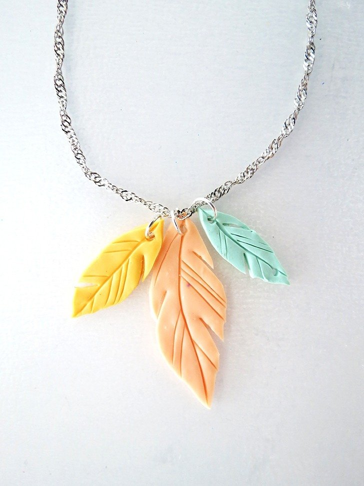 How To Make Feather Pendant With Polymer Clay Dream A