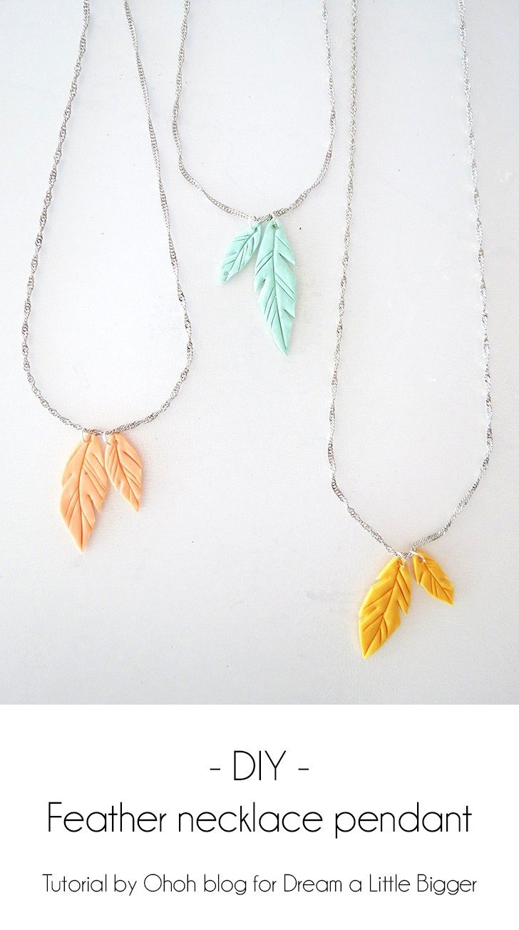 How to make feather pendant with polymer clay dream a little bigger i like to change jewelry everyday its a fun way to complete any outfit for spring and summer time its always nice to wear a touch of color aloadofball Images