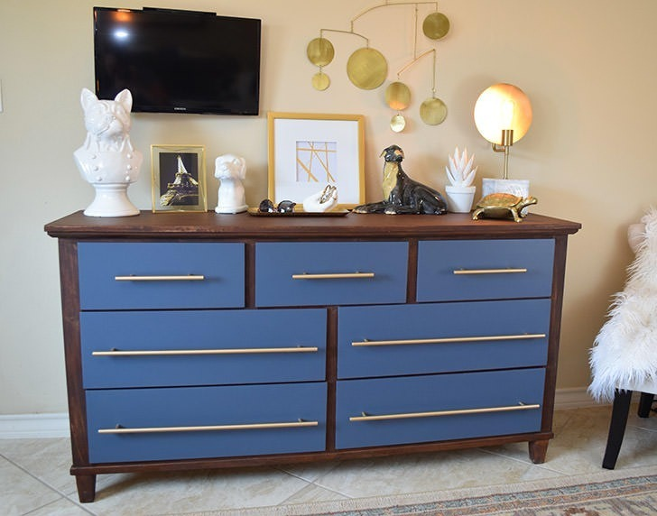 It's so easy and inexpensive to turn an old, dated piece into a modern beauty with Devine from Target!