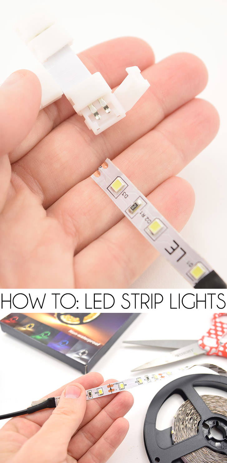 LED Strip lights are so cool but how do you use them? See exactly how they work and what you need to add these to your craft and DIY projects!