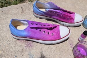 These might be the coolest shoes EVER! White inside, these solar changing Converse sneakers change to vibrant ombre in sunlight!