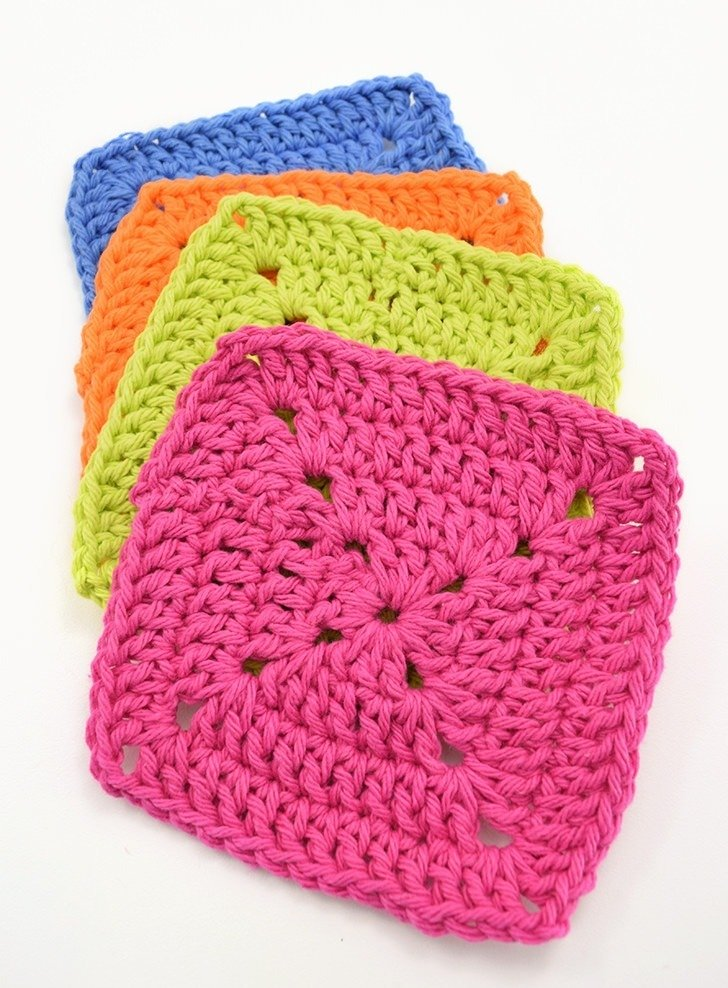 Closed Granny Squares – Crochet Washcloths with Tom's of Maine
