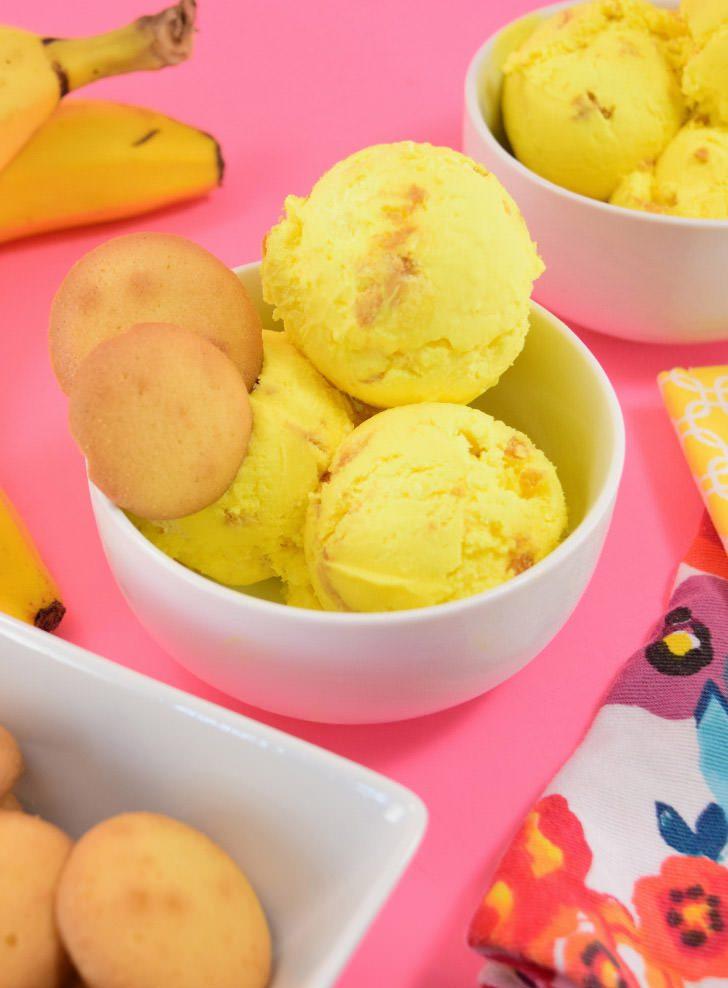 Banana Pudding Ice Cream with Vanilla Wafers