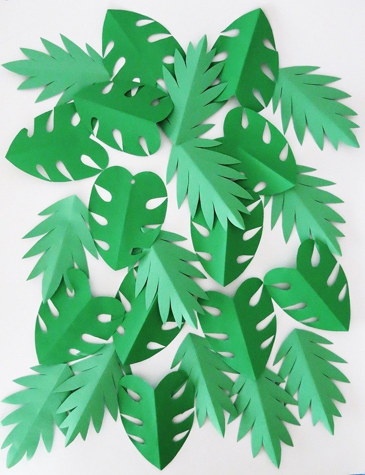 The tropical garland you need for your summer party dream a little and again make a all bunch of leaves mightylinksfo